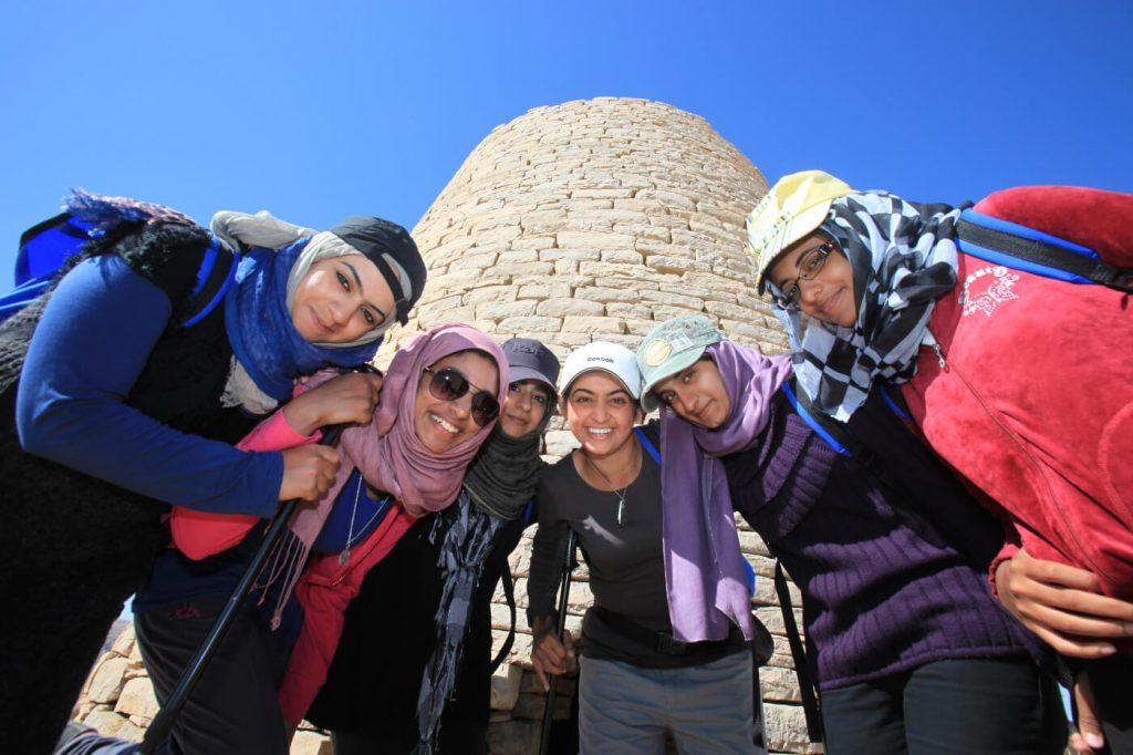 Omani students trekking