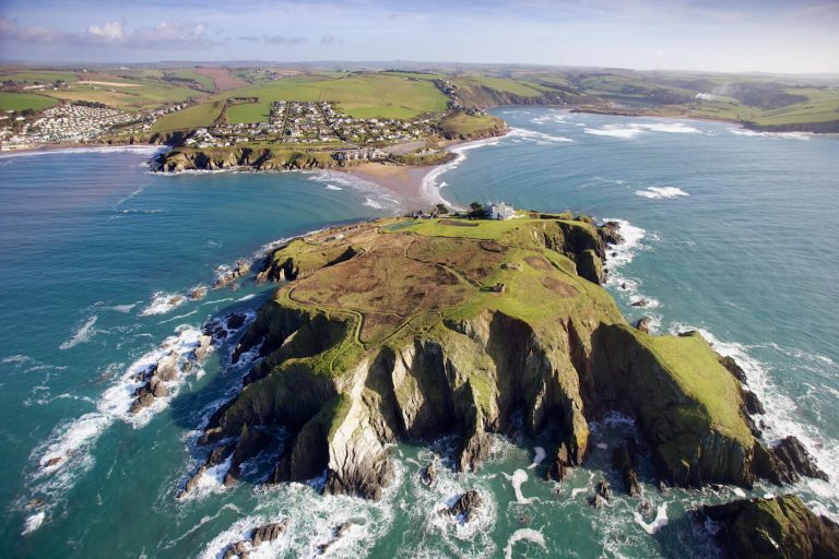 aerial view of Burgh Island